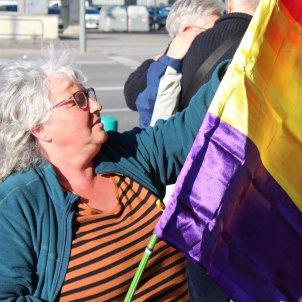 Bandera repúblicana manifestació Brussel·les - Júlia Farré