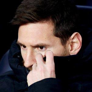 Leo Messi banqueta Sporting Champions   EFE