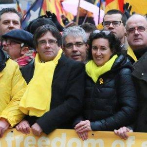 Manifestacio Brussel·les Puigdemont Rovira Mauri Alcoberro Mas Homs Serret - Efe