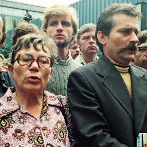 Anna Walentynowicz i Lech Walesa Missa Drassanes Lenin a Gdansk Agost 1980 (Alchetron KFP)