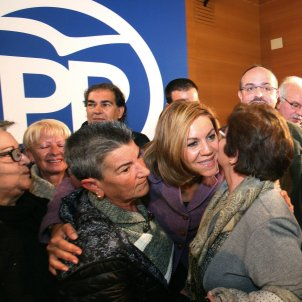 María Dolores de Cospedal sec gral PP ministra Defensa mitin Calafell 20171209