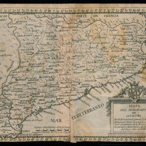 Mapa de Catalunya. 1781. Font Institut d'Estudis Ilerdencs