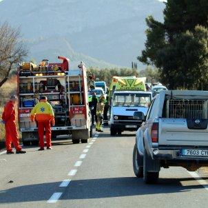 bombers i sem accident Horta Sant Joan ACN