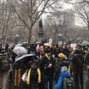 manifestació presos polítics NYC   @JordiGraupera Twitter