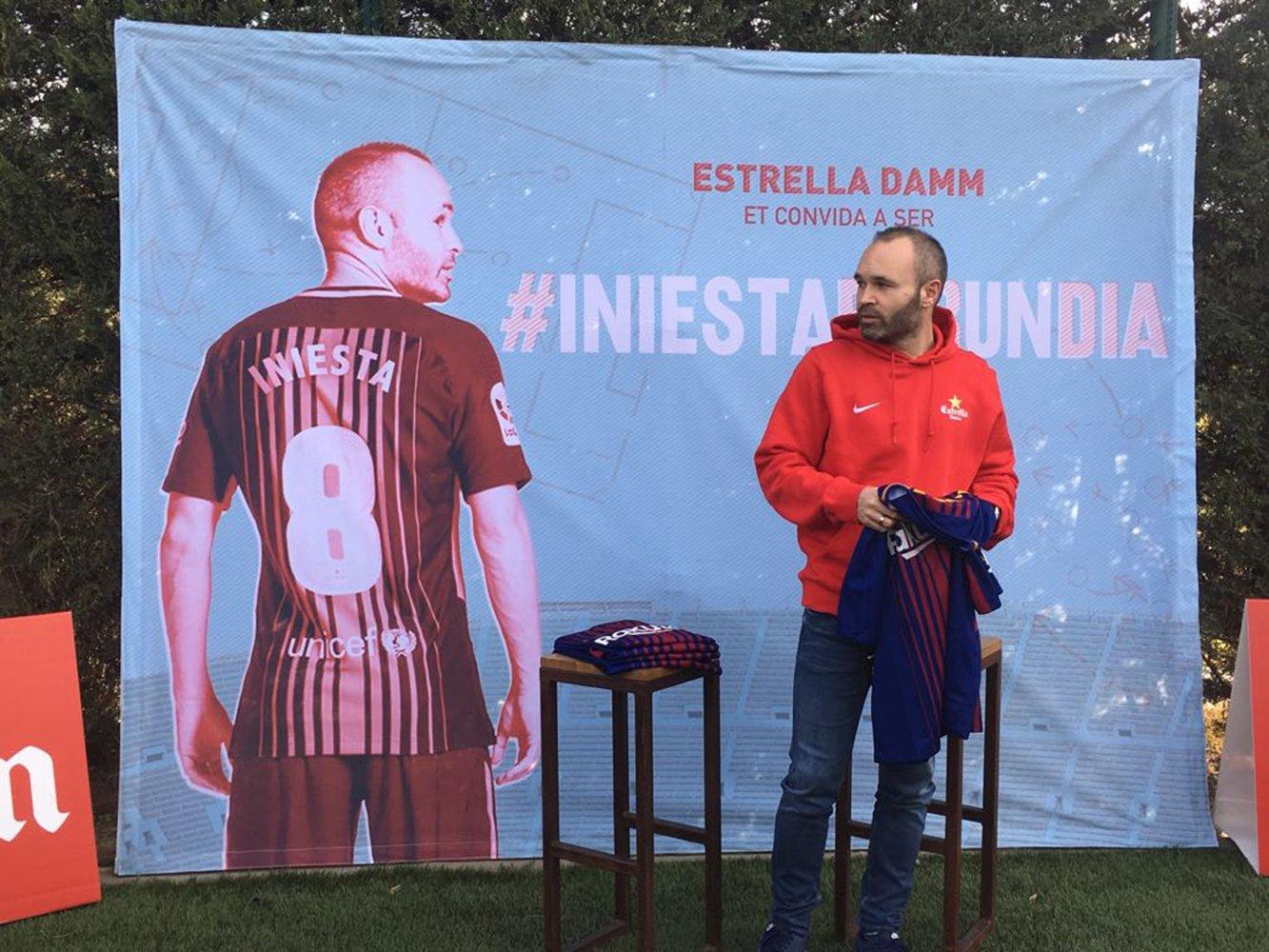 Andrés Iniesta Barça Bernat Aguilar