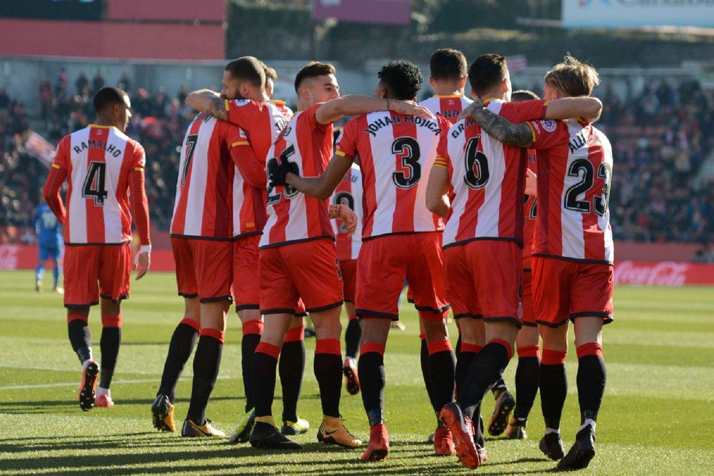 Girona celebració gol Getafe Girona FC