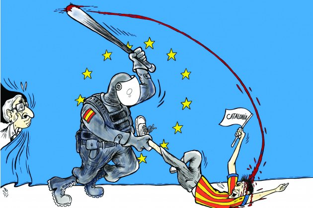repressió catalunya humoristes il·legal times Khalid Gueddar