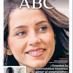 portada ABC Arrimadas 20 xii 2017