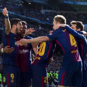 Barça Madrid pinya   EFE