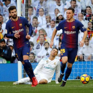 Vermaelen Piqué Cristiano Ronaldo Barça Reial Madrid Efe