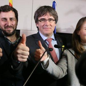 Comin Puigdemont Serret Brusselles 21D EFE