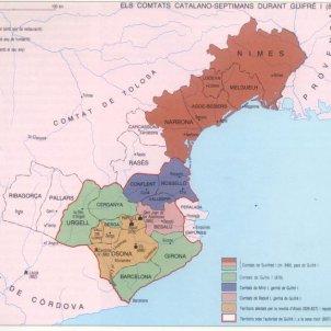 Carlemany converteix Barcelona en capital de la Gòtia. La Gòtia al segle IX. Font Arxiu d'ElNacional
