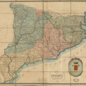 Mapa Catalunya Divisió Provincial. 1859. Font Institut Cartografic de Catalunya
