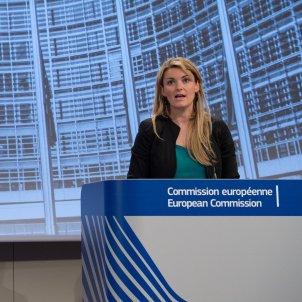 La portavoz de la comisión europea Mina Andreeva / ACN