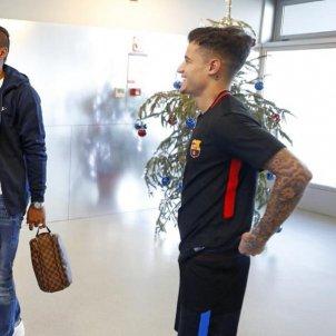Coutinho Paulinho Piqué Luis Suárez Barça FC Barcelona