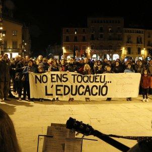 Manifestació escola Vic - ACN