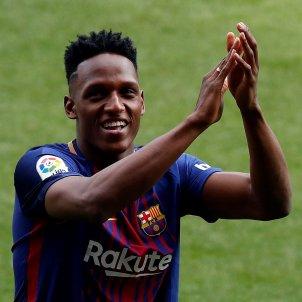 Yerry Mina presentació Camp Nou Barça Efe