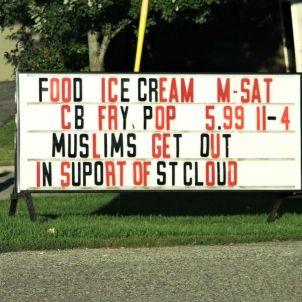 muslims get out   Lori Nickel