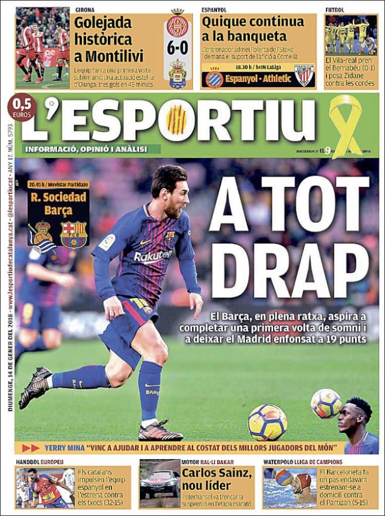 El Deportivo Portada 14 01 2018