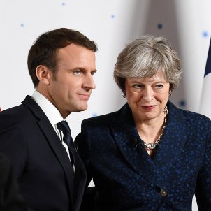 Emmanuel Macron Theresa May - EFE