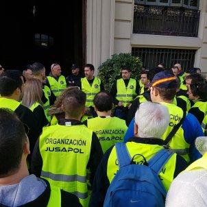 manifestació policia espanyola @jusapol