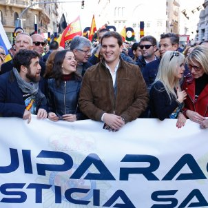 Arrimadas i Rivera manifestació policia espanyola Sergi Alcàzar
