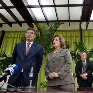Rafael Catalá es reuneix amb la ministra de justicia cubana María Esther Reus - EFE