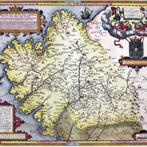 Mapa Galicia 1598