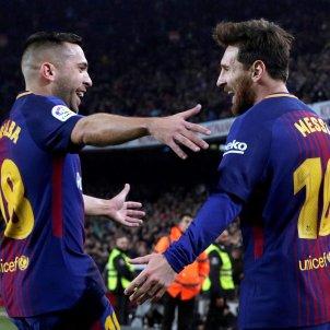 Leo Messi Jordi Alba Barça Espanyol Efe