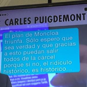 Carles Puigdemont Toni Comín Conversa filtrada missatges / EN