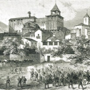 La Seu d'Urgell. 1874. Font Magazine L'Illustration. Paris