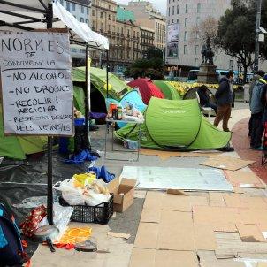 campament república plaça catalunya ACN