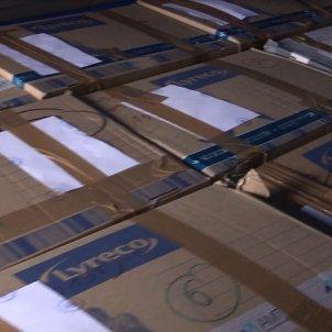 cajas en camión - ministeri interior