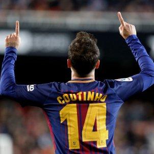Coutinho primer gol Barça Valencia Copa Mestalla   EFE