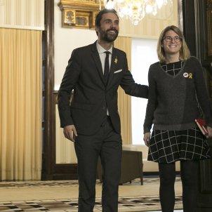 Roger Torrent i Elsa Artadi Parlament - Sergi Alcazar