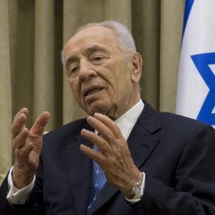 Shimon Peres Israeli President speaks in Jerusalem, April 22, 2013