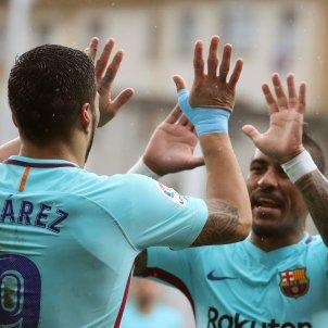 Suarez Rakitic Paulinho Barça Eibar gol   EFE