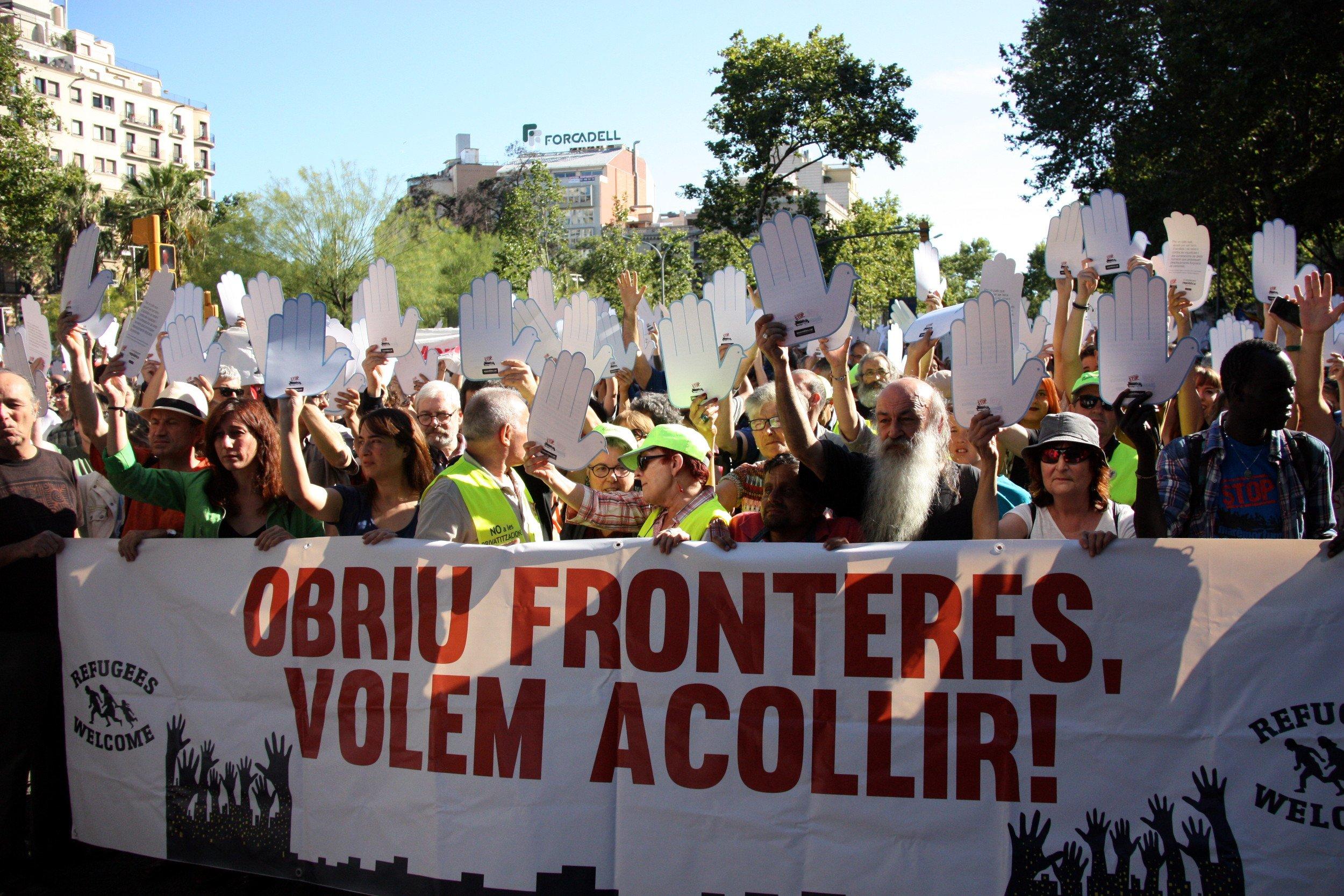 Manifestació refugiats ACN