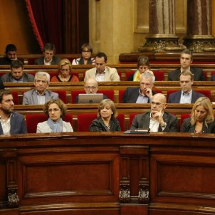 La bancada de Junts pel Sí -  Sergi Alcàzar