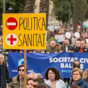 Manifestació Mallorca contra català a la sanitat Efe
