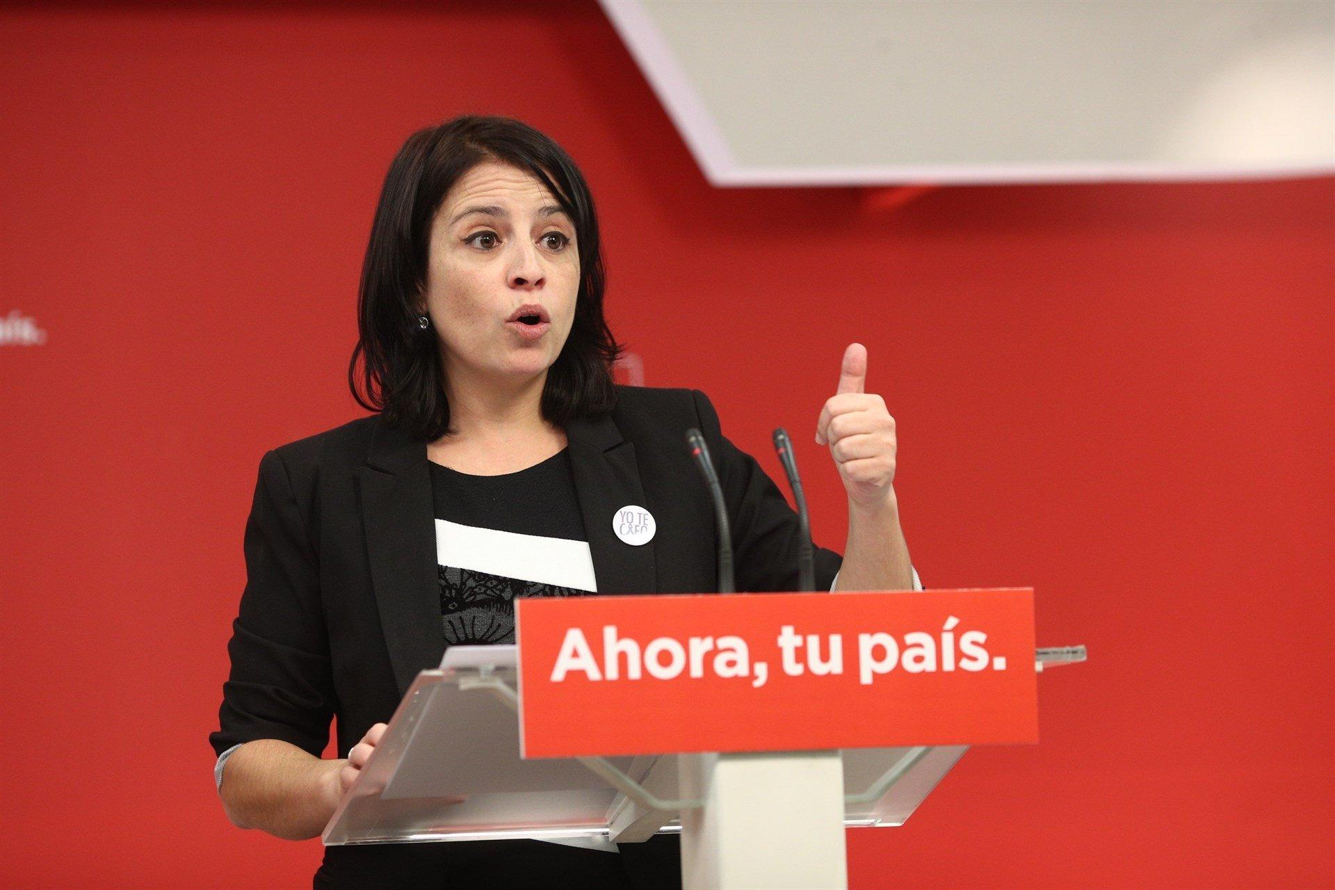 Adriana Lastra PSOE europapress