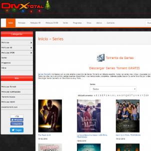 Pàgina web Divxtotal