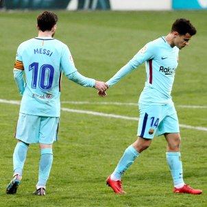 Leo Messi Philippe Coutinho Eibar Barça   EFE