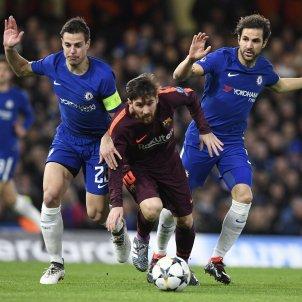 Leo Messi Cesc Fabregas Chelsea Barça   EFE