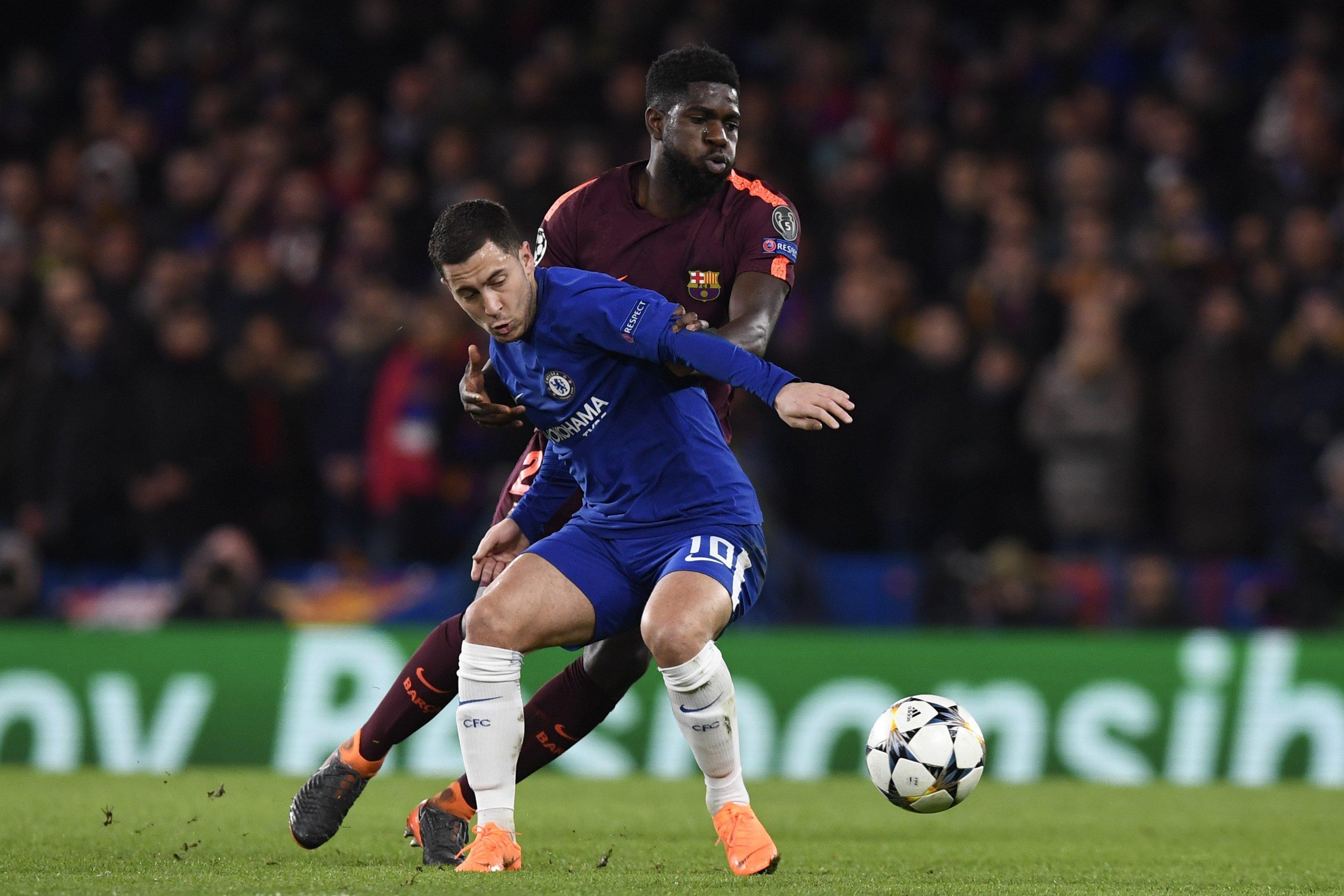Umtiti Hazard Chelsea Barça   EFE