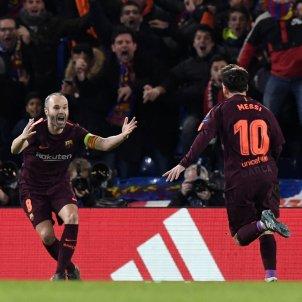 Messi Iniesta Chelsea Barça Champions Efe