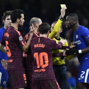 Leo Messi Sergio Busquets Chelsea Barça   EFE