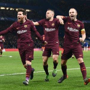 Messi Iniesta Jordi Alba Chelsea Barça Champions Efe