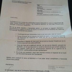Carta Mossos