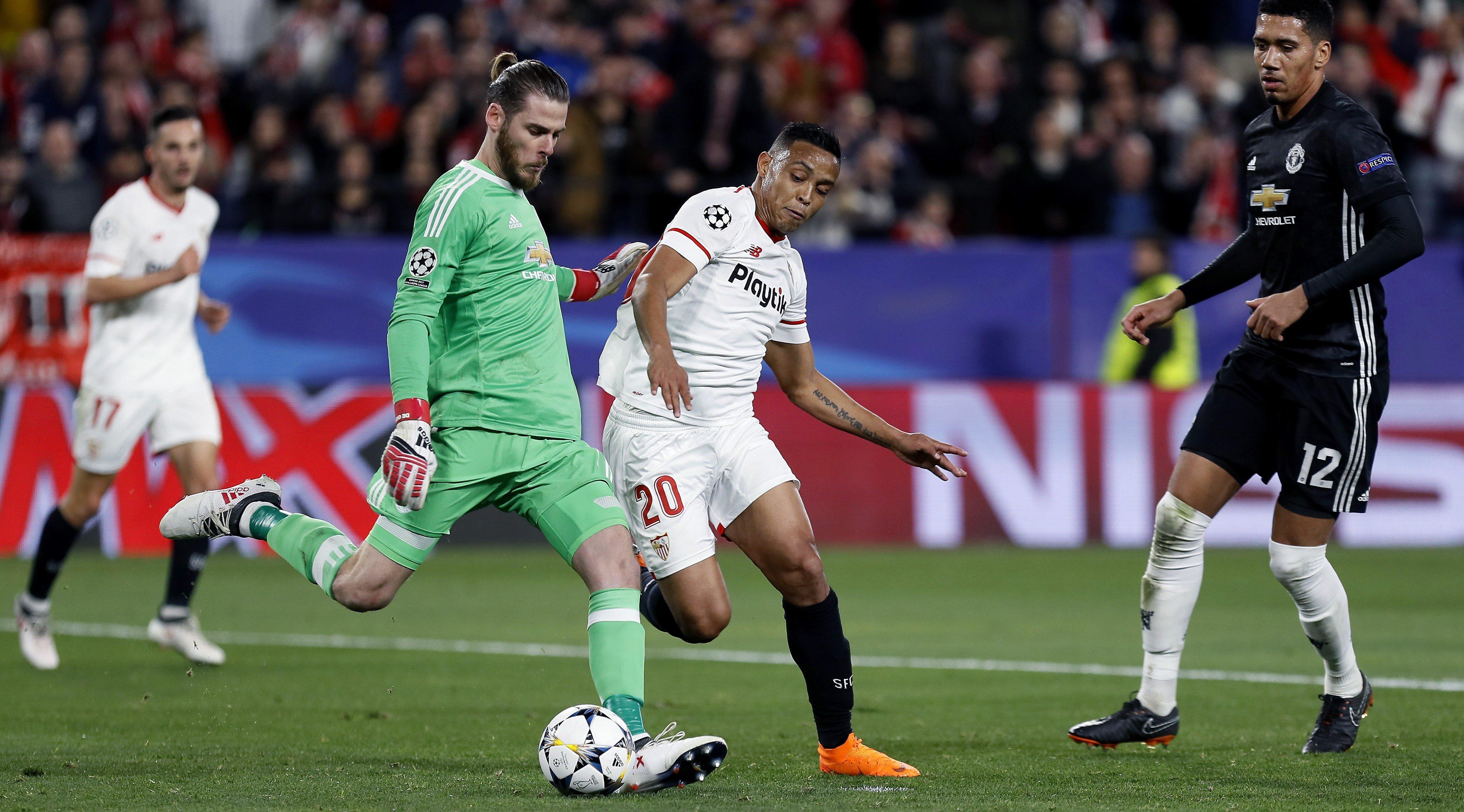 De Gea Muriel Sevilla Manchester United Efe